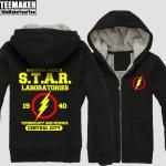Merchandise Fur Hoodie Flash Dc Universe Star Labs Pullover