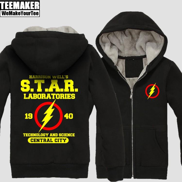 Buy Fur Hoodie Flash DC Universe Star Labs