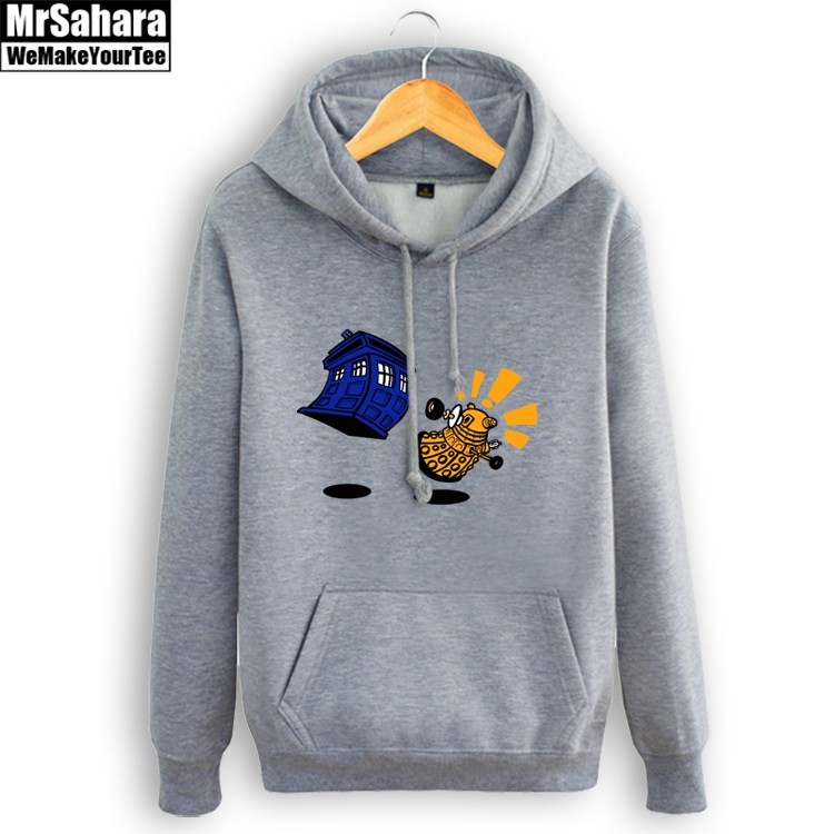 Merch Hoodie Doctor Who Adventure Time Crossover Pullover