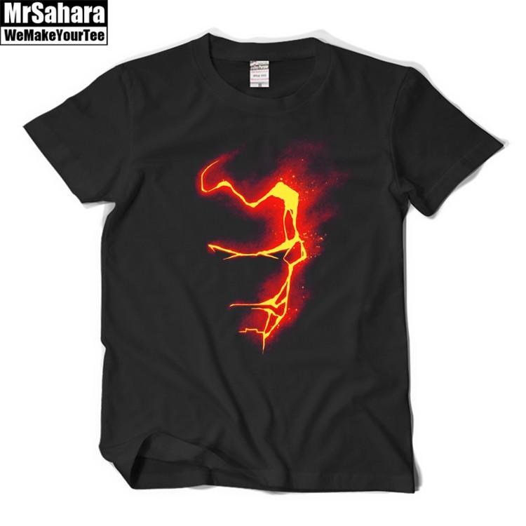 Buy T shirt Mens Iron man Flash Light Armor Helmet