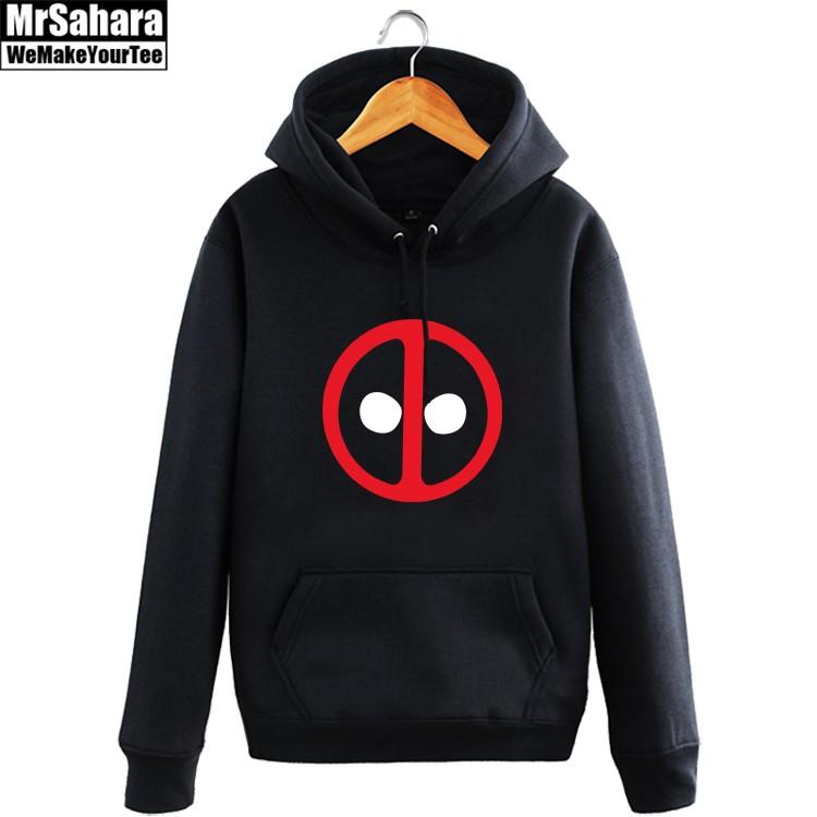 Merch Hoodie Deadpool Logo Face Universe Pullover