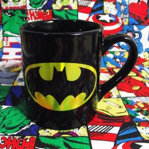Buy Ceramic Mug Black Laser Batman Logo Cup merchandise collectibles