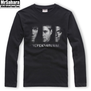 Merch Longsleeve Mens Supernatural Winchesters Castiel