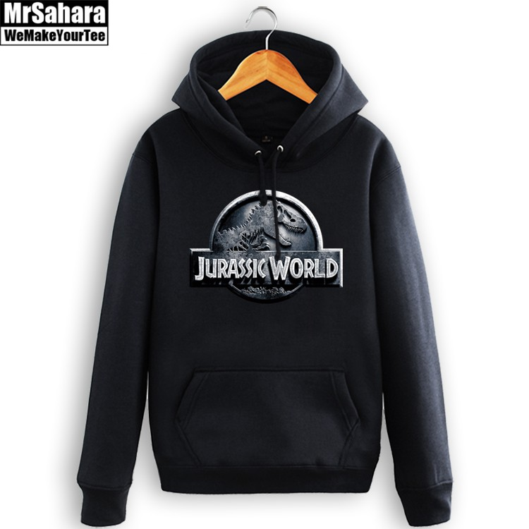 Merchandise Hoodie Jurassic Park Movie Emblem Logo Pullover