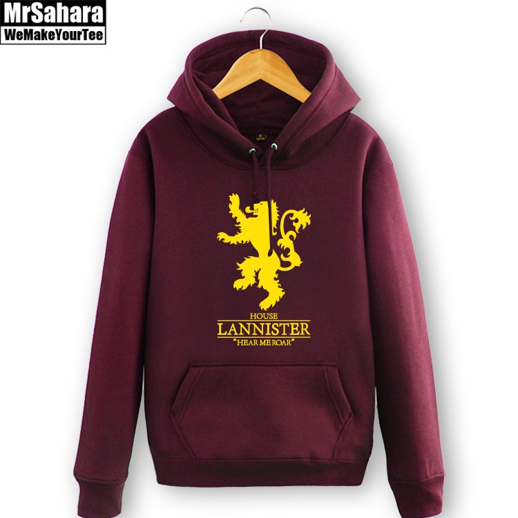 Merch Hoodie Lannister Game Of Thrones Lion Pullover