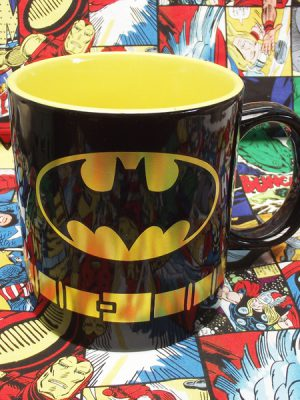 Buy Ceramic Mug Classic Yellow Badge Batman Cup