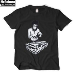 Merchandise T-Shirt Mens Bruce Lee Dj Music Djing