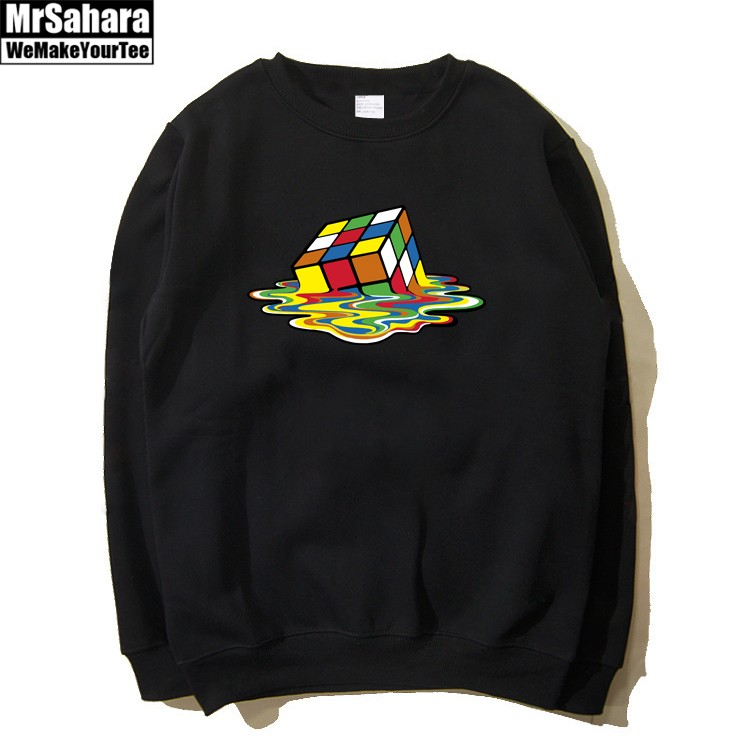 Collectibles Sweatshirt Sheldons Melted Rubick'S Cube Print