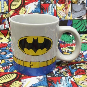 Buy Ceramic Mug White Batman Classic Costume Cup merchandise collectibles