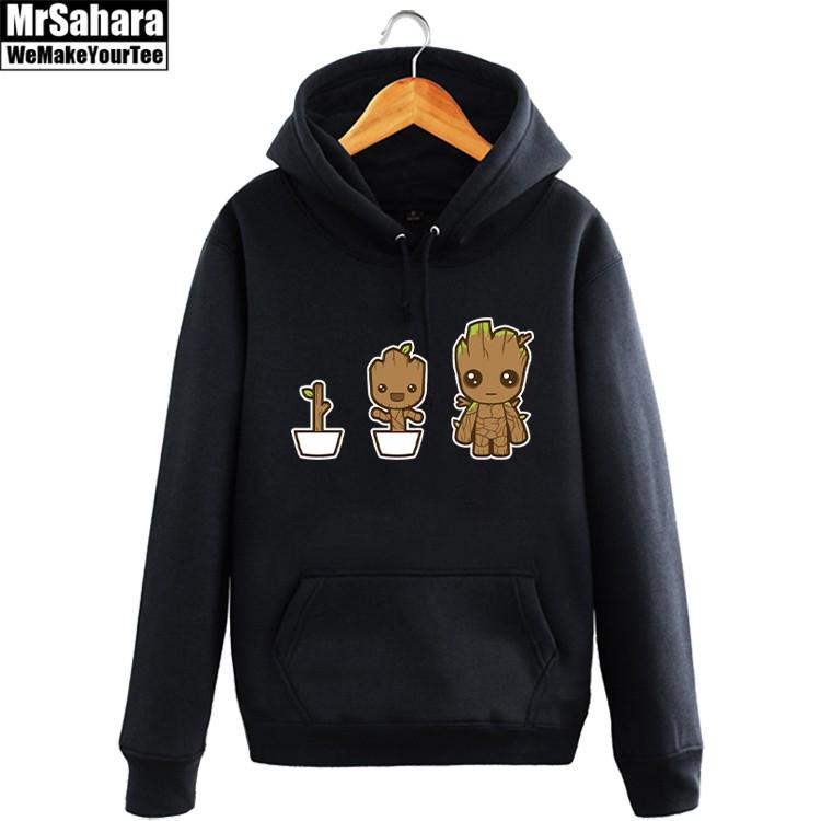 Merchandise Hoodie Groot Growing Art Guardians Of The Galaxy Pullover
