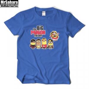Merch T-Shirt Mens Crossover Big Bang Theory Despicable Me