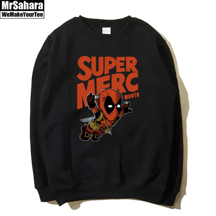 Merchandise Sweatshirt Super Merc Deadpool Crossover Black