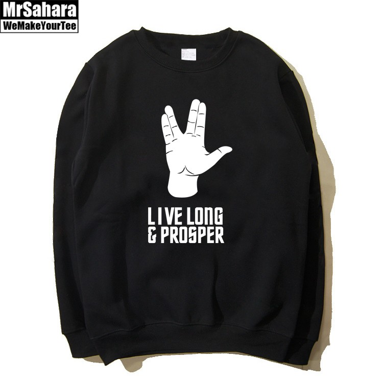 Merchandise Sweatshirt Star Trek Live Long And Prosper