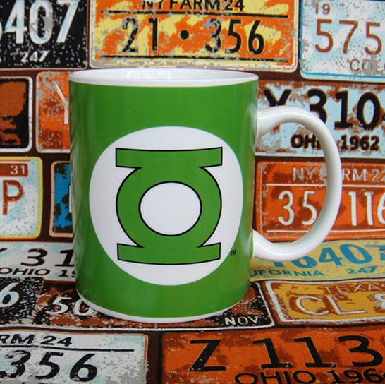 Buy Ceramic Mug Green Lantern Logo Cup merchandise collectibles