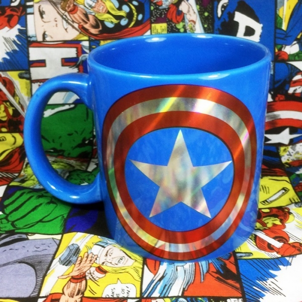 Buy Ceramic Mug Captain America Star Logo Cup merchandise collectibles