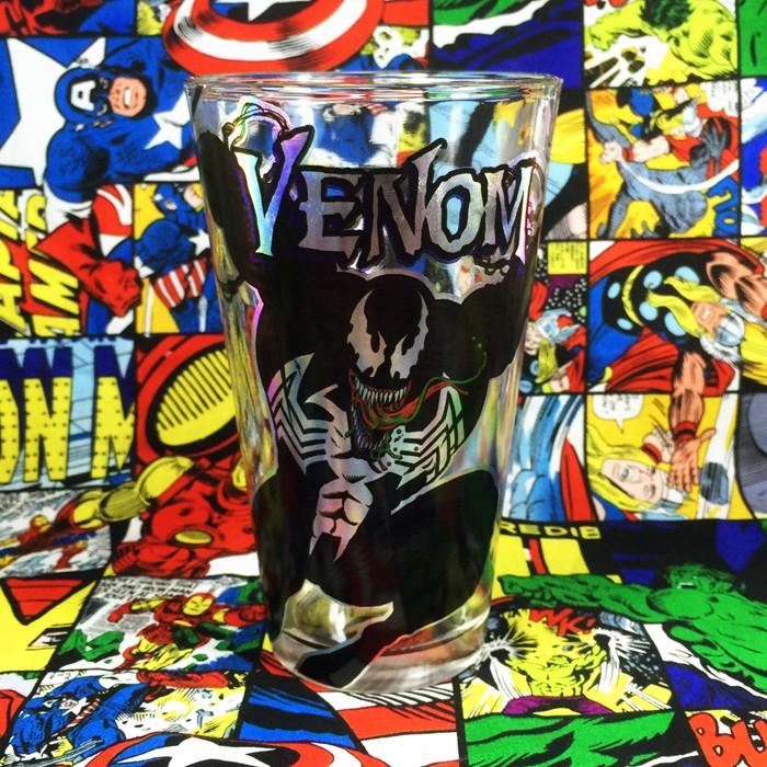 Buy Glassware symbiote Venom Marvel Universe Cup merchandise collectibles