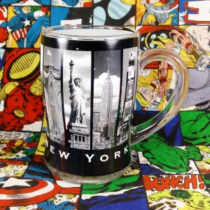 Buy Glassware Mug New York City Cup merchandise collectibles