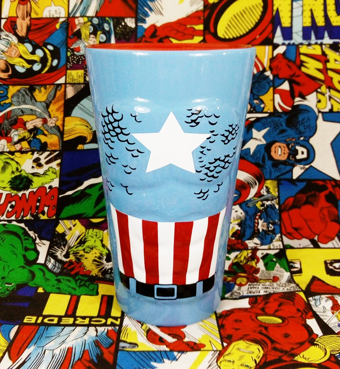 Buy Ceramic Glass Captain America Costume Cup merchandise collectibles