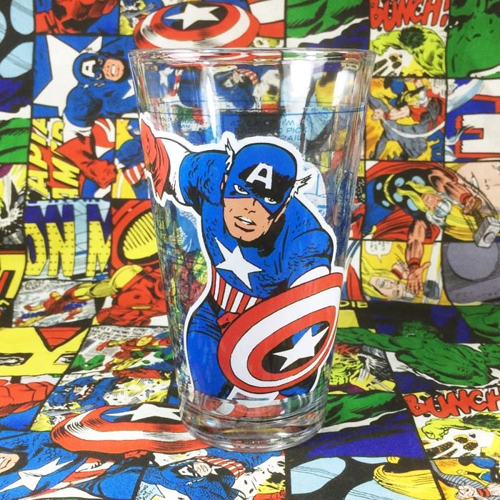 Buy Glassware Captain America Marvel Cup merchandise collectibles