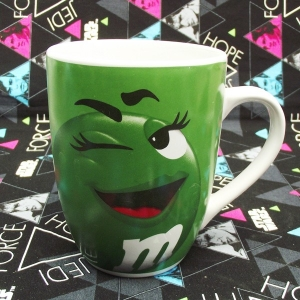 Buy Ceramic Mug Green M&M's She Lady Cup merchandise collectibles