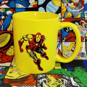 Buy Mug Iron man Costume Yellow Red Cup Merchandise collectibles