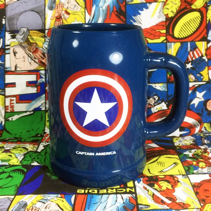Buy Ceramic Mug Big Captain america Star Logo Cup merchandise collectibles
