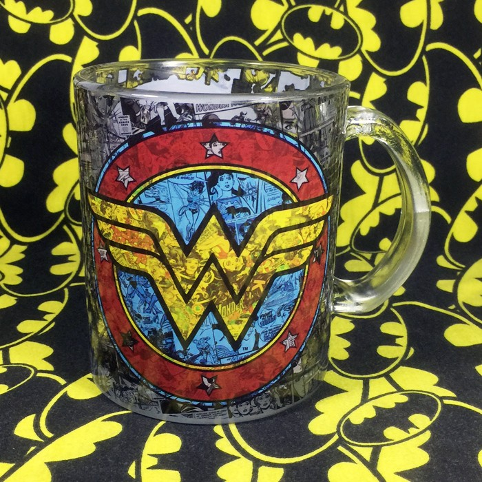 Buy Glassware Mug Wonder Woman Logo Cup merchandise collectibles