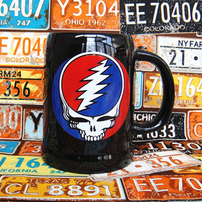 Buy Ceramic Mug Grateful Dead Rock Band Cup merchandise collectibles