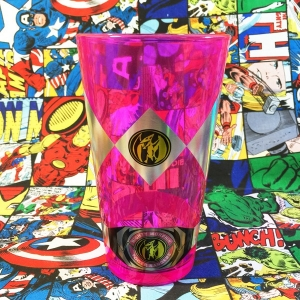 Merch Glass Pink Power Ranger Rangers Glassware