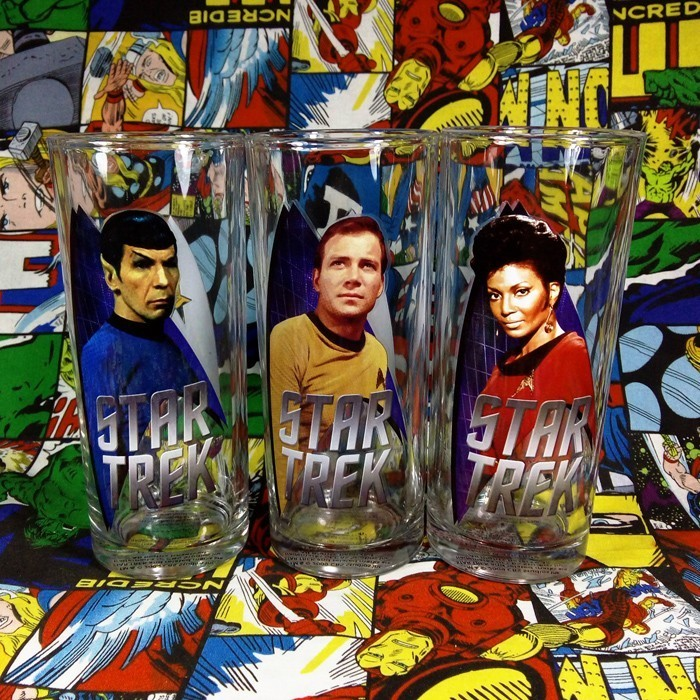 Buy Glassware Glasswarees Set Star Trek spock kirk uhura Cup merchandise collectibles