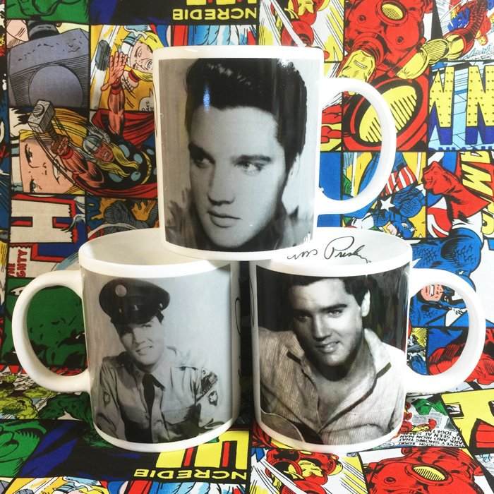 Buy Ceramic Mug Elvis Presley Cup merchandise collectibles