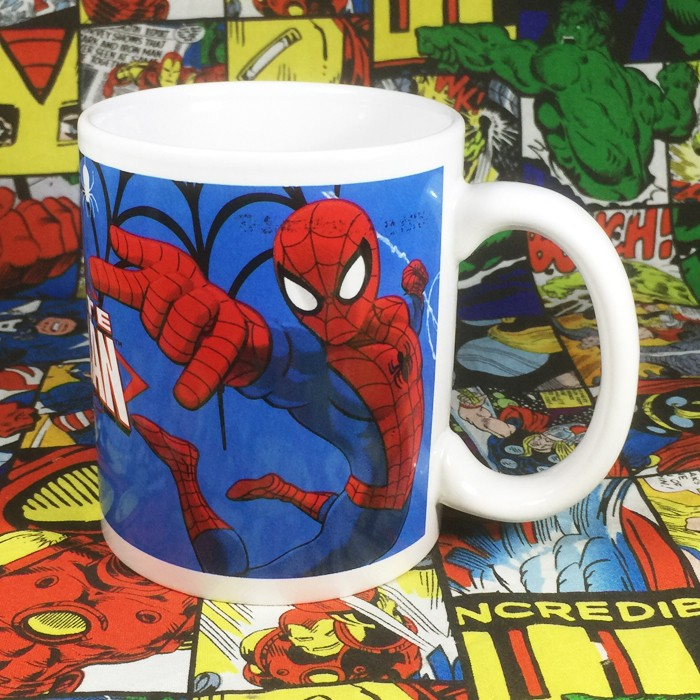 Buy Ceramic Mug Spider man Comic Cup merchandise collectibles