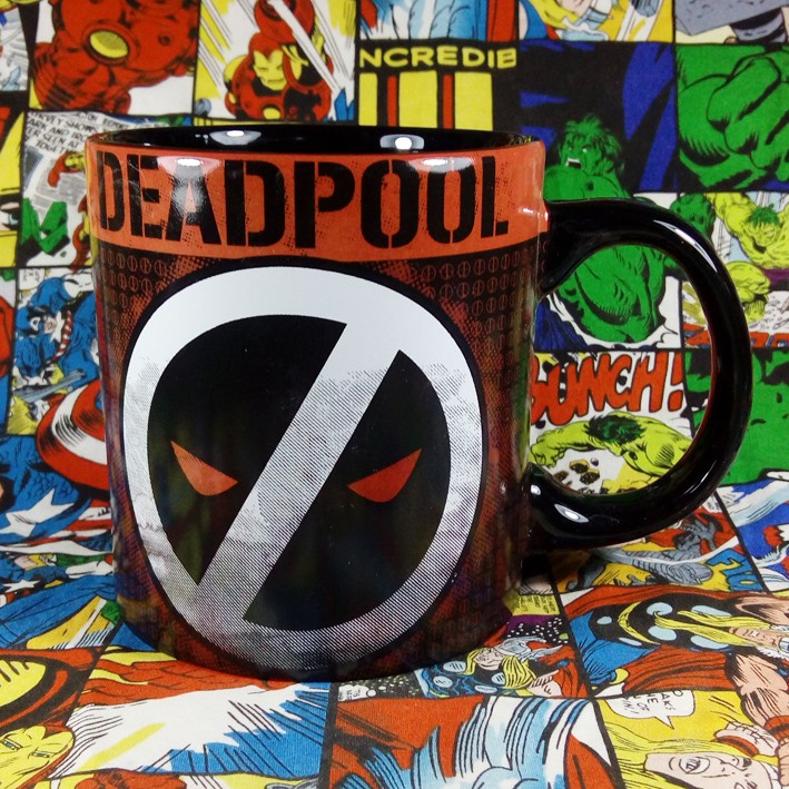 Buy Ceramic Mug Deadpool White Logo Emblem Cup merchandise collectibles