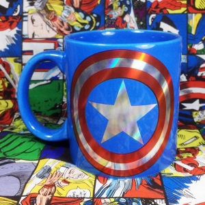 Buy Ceramic Mug Captain America Star Logo Cup Merchandise collectibles