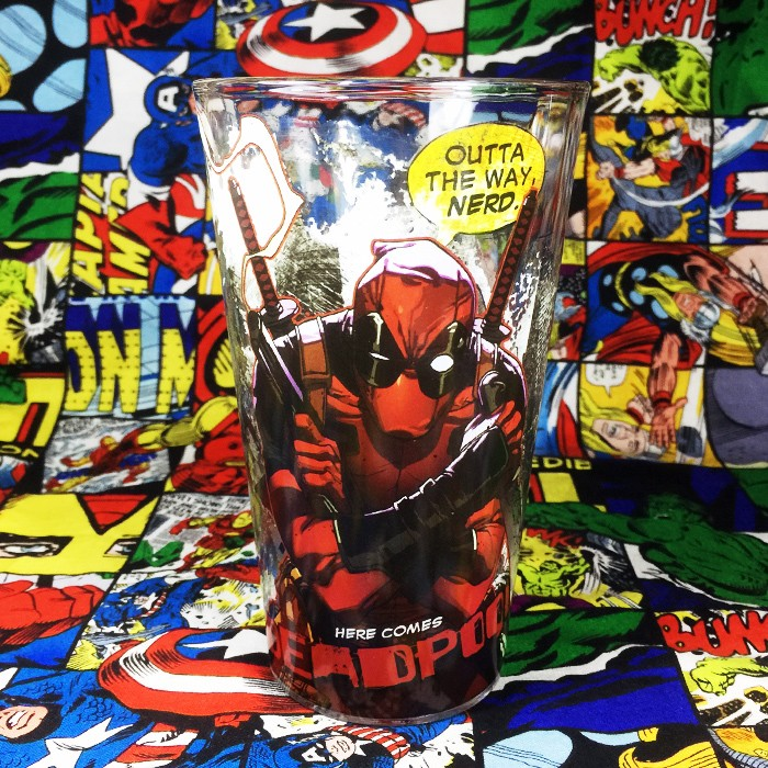 Buy Glassware Deadpool Outta The Way Nerd Cup merchandise collectibles