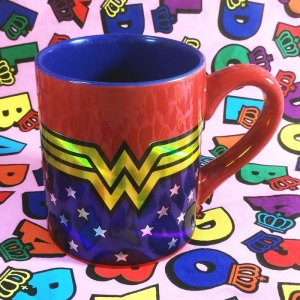 Buy Mug Wonder Woman DC Laser Art Cup merchandise collectibles