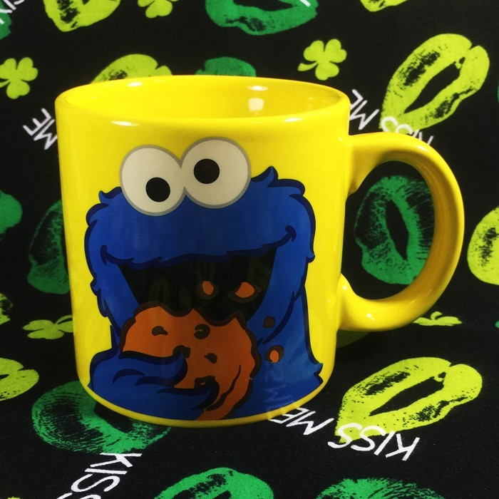 Buy Ceramic Mug Cookie Monster Sesame Street Cup merchandise collectibles