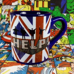 Buy Ceramic Mug Help Beatles British Cup merchandise collectibles