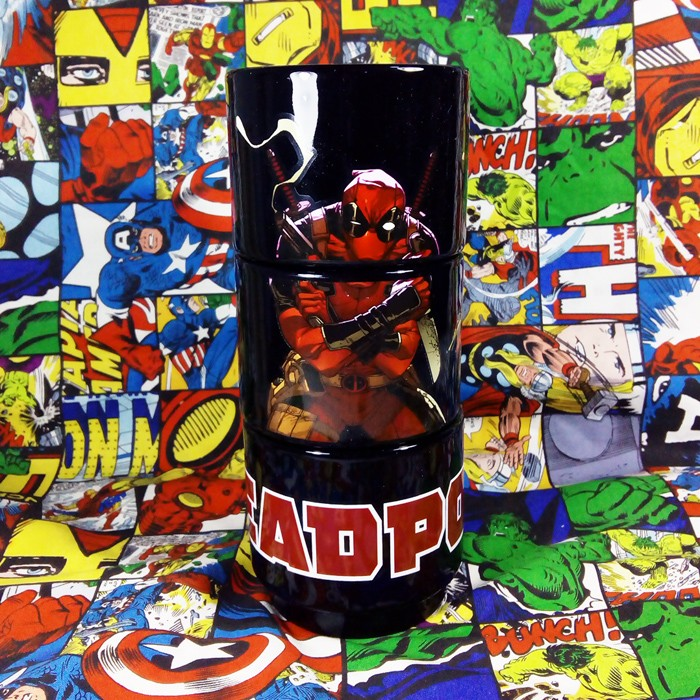 Buy Glassware Black Deadpool Marvel Universe Cup merchandise collectibles