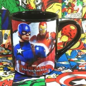 Buy Mug Captain America Civil War Iron man Cup Merchandise collectibles