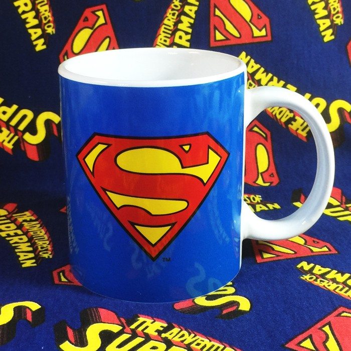 Buy Ceramic Mug Classic Superman logo Cup merchandise collectibles