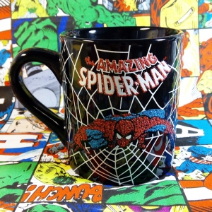 Buy Ceramic Mug Amazing Spider man web Cup merchandise collectibles