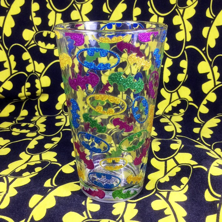 Buy Ceramic Mug Glitter Batman Logo Cup merchandise collectibles
