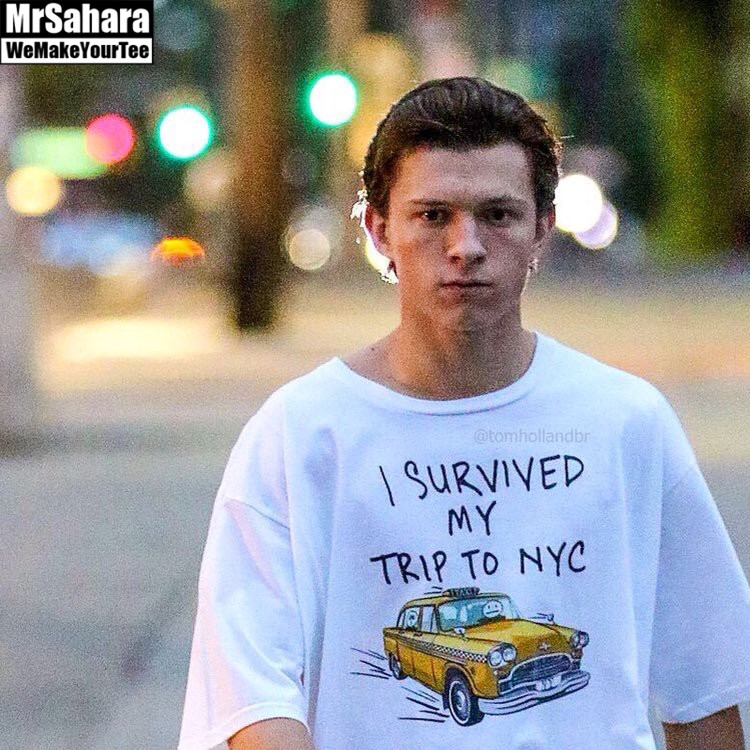 T-shirt Mens I Survived my Trip to NYC Spider-man – Idolstore 68f540834a3