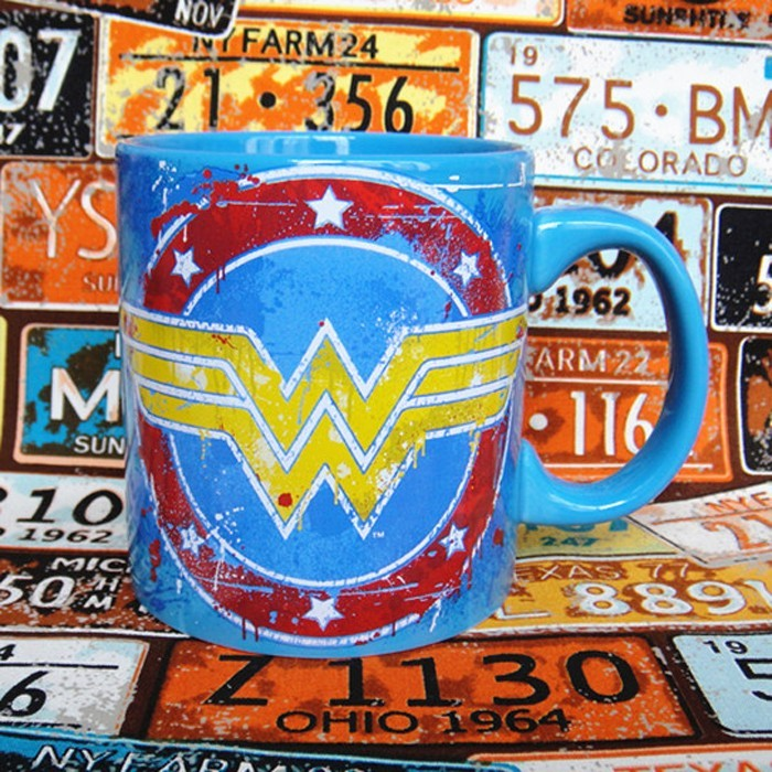 Buy Ceramic Mug Blue Wonder Woman DC Cup merchandise collectibles
