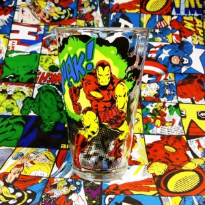 Buy Glassware Iron man Classic Comics Version Glass Merchandise collectibles