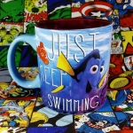 Buy Ceramic Mug finding nemo Just Keep Swimming Cup merchandise collectibles