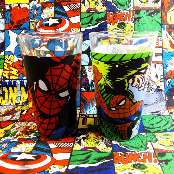 Buy Glassware Spider man Classic Comic Cup merchandise collectibles