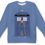 Merch Sweatshirt 10Th Doctor Tardis Call Box Doctor Who