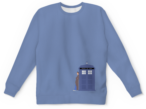 Buy Mens Sweatshirt 3D: Animated Tardis Call Box Apparel Doctor Who merchandise collectibles